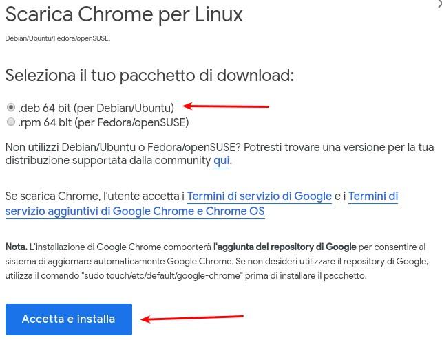 Ecco come scaricare Goggle Chrome per Ubuntu 20.04 LTS