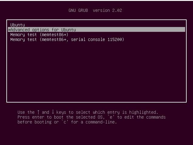 Opzioni Avanzate GRUB Ubuntu 20.04LTS o Linux Mint 20